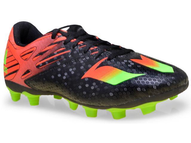 Chuteira Masculina Adidas Af4671 Messi 15 4 Fxg  Pretolaranja/verde