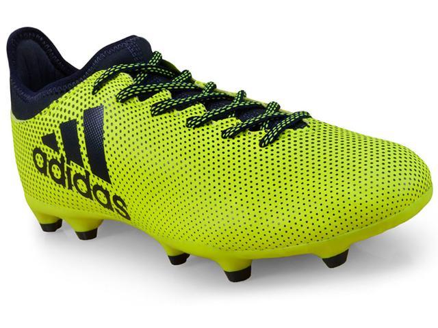 Chuteira Masculina Adidas S82366 X17.3 fg Limão/marinho