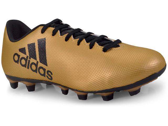 Chuteira Masculina Adidas Cp9195 X17 4 Fxg Dourado/preto