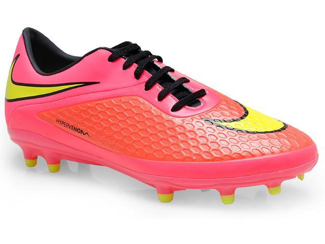 Chuteira Masculina Nike 599730-690 Hypervenom Phelon fg Pink/coral/limão