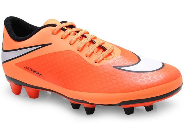 Chuteira Masculina Nike 599809-800 Hypervenom Phade fg Laranja Neon/preto