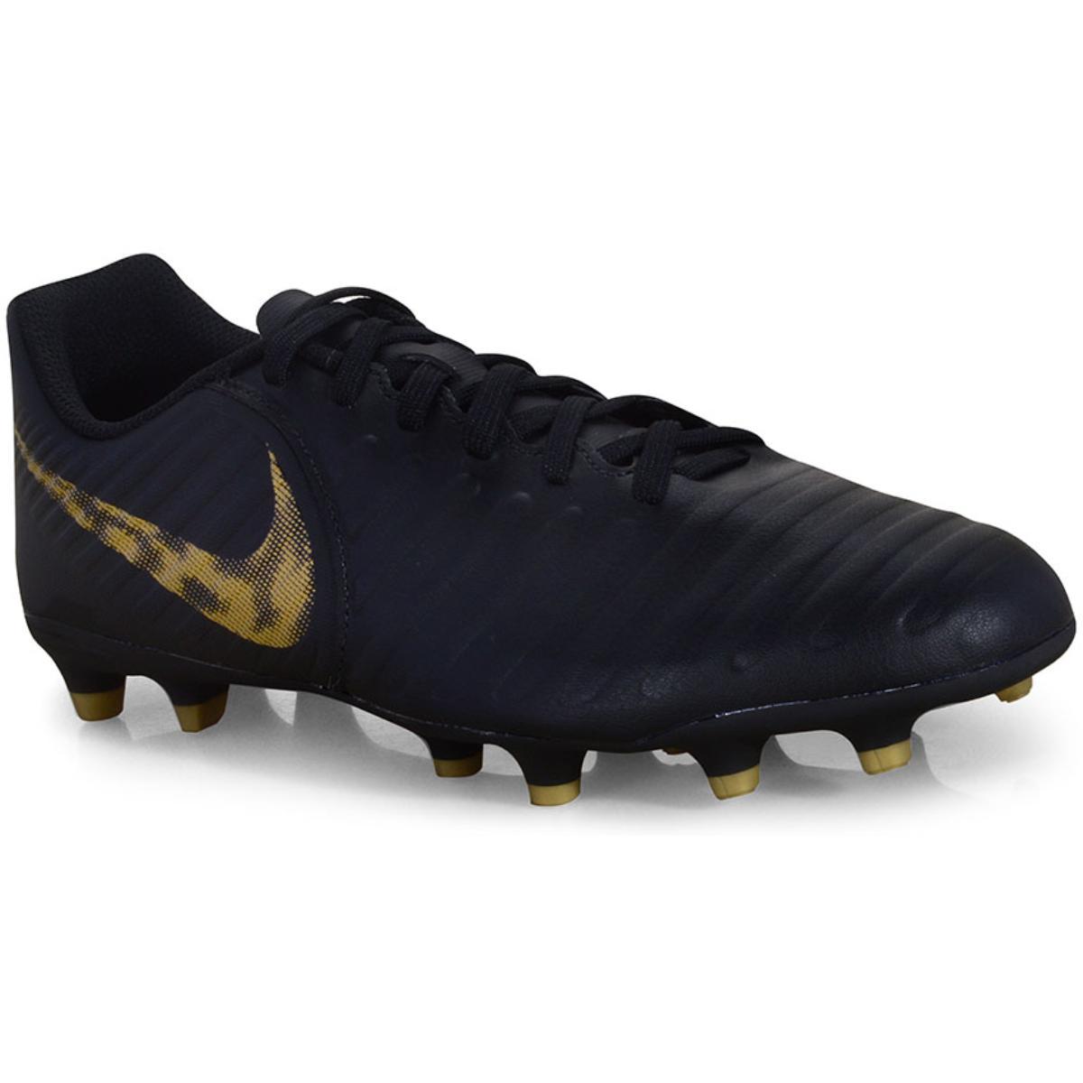 Chuteira Masculina Nike Ao2597-077 Legend 7 Club Preto/dourado