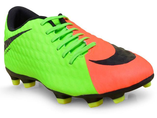 Chuteira Masculina Nike 852547-308 Hypervenom Phade Iii fg Limão/coral