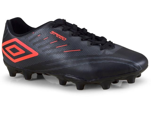 Chuteira Masculina Umbro Of70088 180 Speed iv Preto/grafite/coral