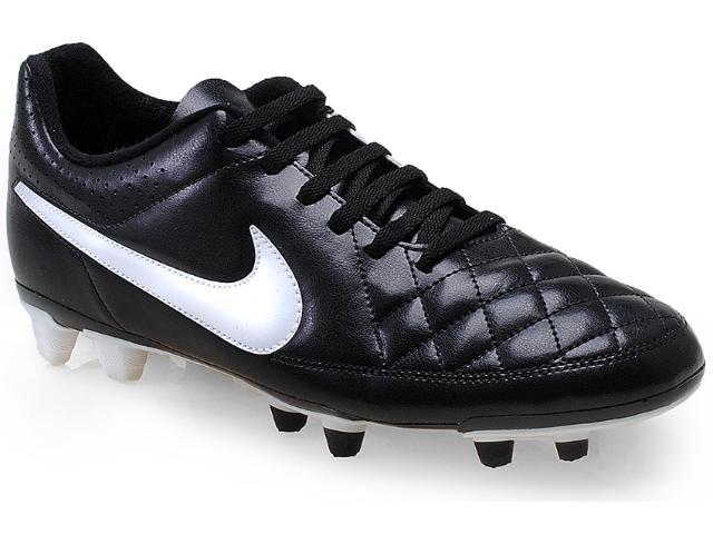 Chuteira Masculina Nike 631287-010 Tiempo Rio ii fg Preto/branco