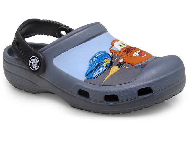 Masc Infantil Crocs Carros Chumbo/preto