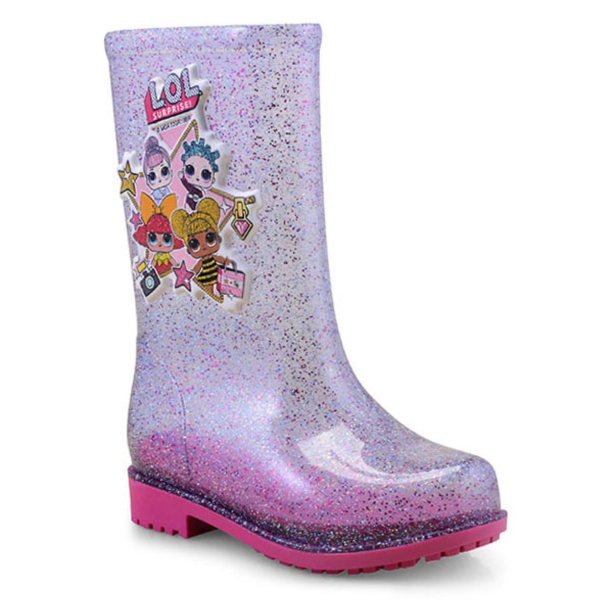 Galocha Fem Infantil Grendene 21966 53532 Vidro Glitter/multicor/rosa