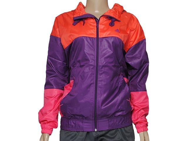 Jaqueta Feminina Adidas D87875 Quebra Vento Laranja/roxo
