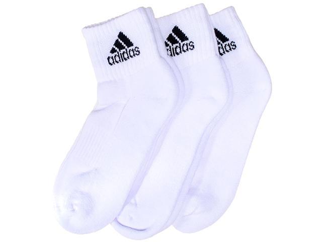 Meia Masc Infantil Adidas M33755 Kit c/ 3  Ankle Mid Kids  Branco