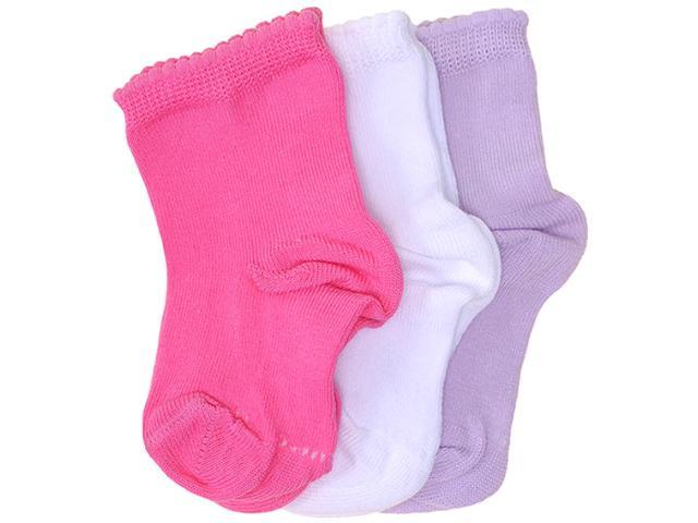 Meia Uni Infantil Lupo 2000 089  0908 Kit C/3 Lilas/branco/rosa