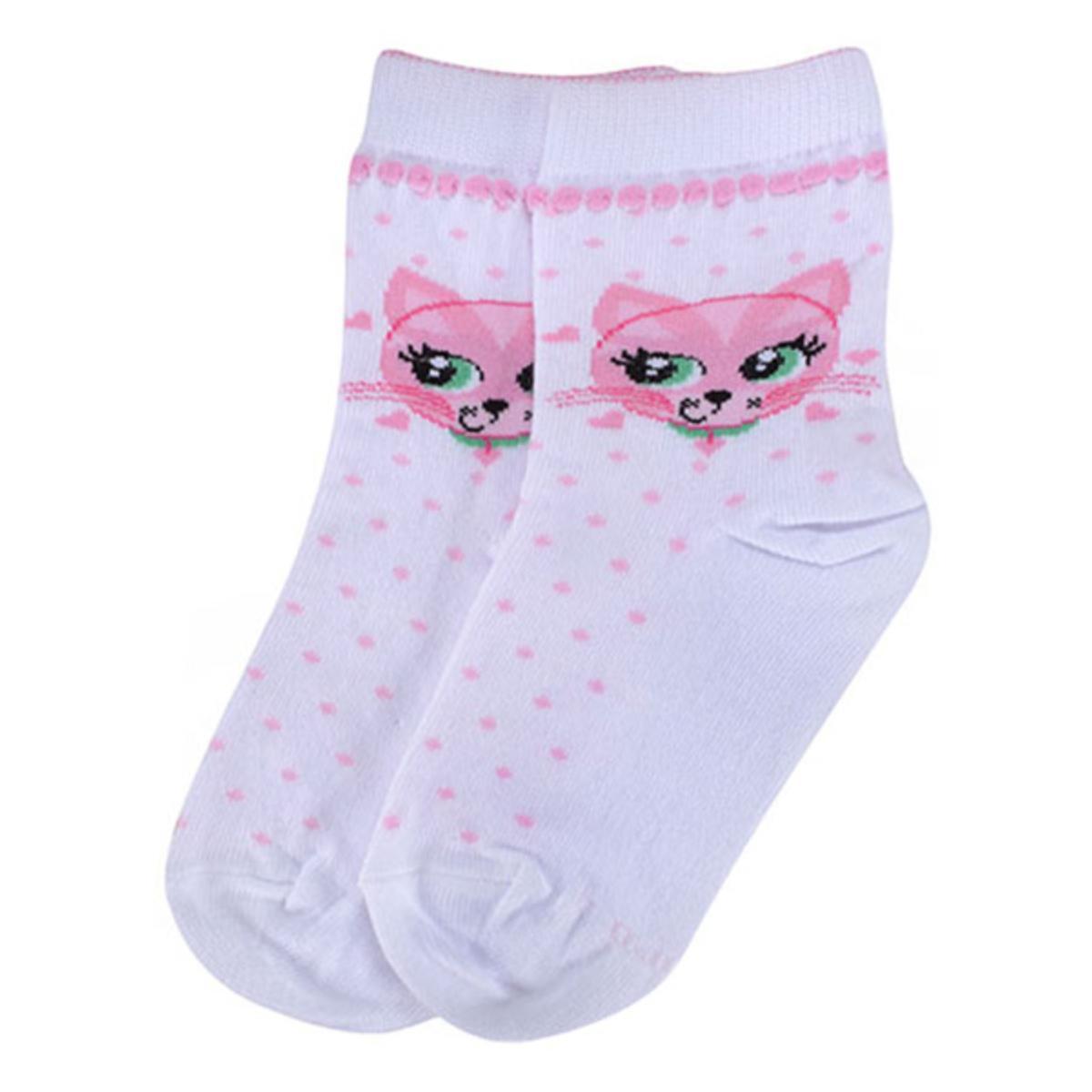 Meia Fem Infantil Lupo 02680 245 1120 Branco/rosa