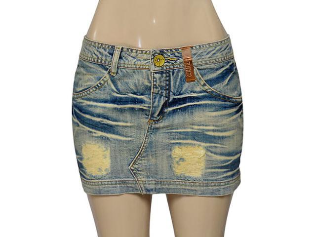 Mini Saia Feminina Zinco 105922 Jeans