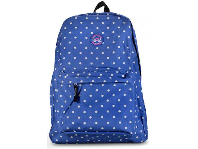 Mochila Fem Infantil Lavit Cr8124 Azul Poa