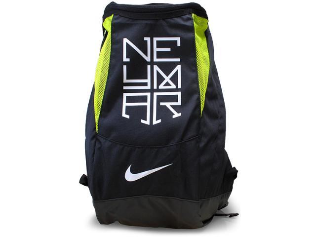 Mochila Unisex Nike Ba4954-071 Neymar Shield Compact  Preto/limão