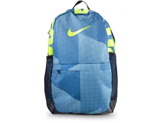 Mochila Masculina Nike Ba5755-474 Brasilia Azul/limão