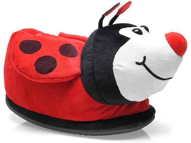 Pantufa Feminina Ferpa Joaninha 6075 Vermelho/preto