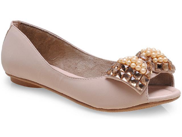Peep Toe Feminino Addan Mulher 384 Areia/dourado