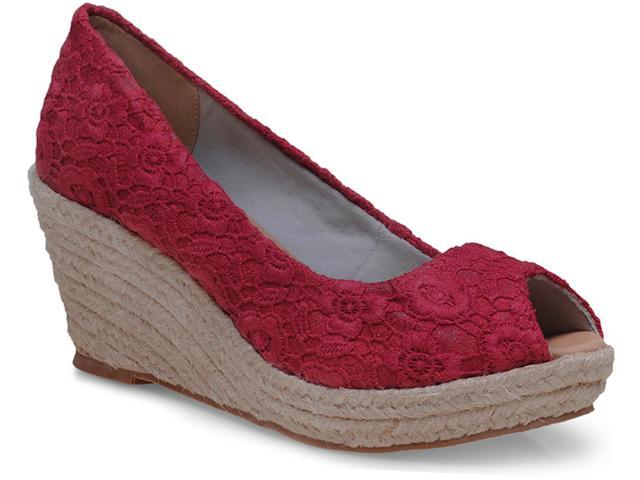 Peep Toe Feminino Brenners 9006-1 Vermelho
