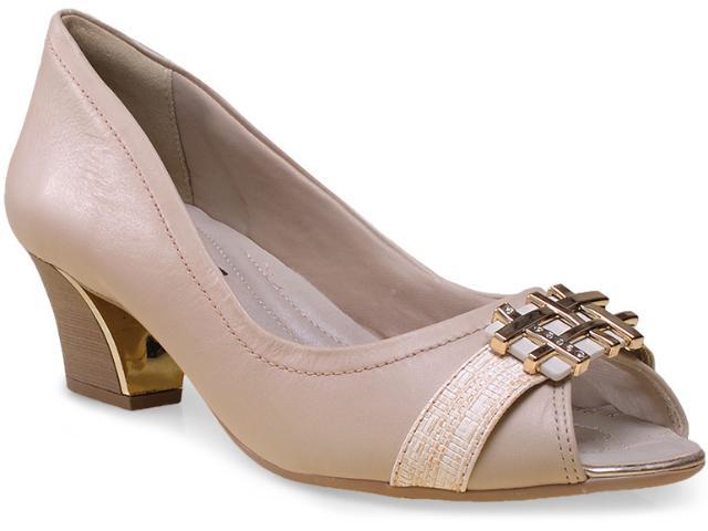 Peep Toe Feminino Comfortflex 15-92404 Off White