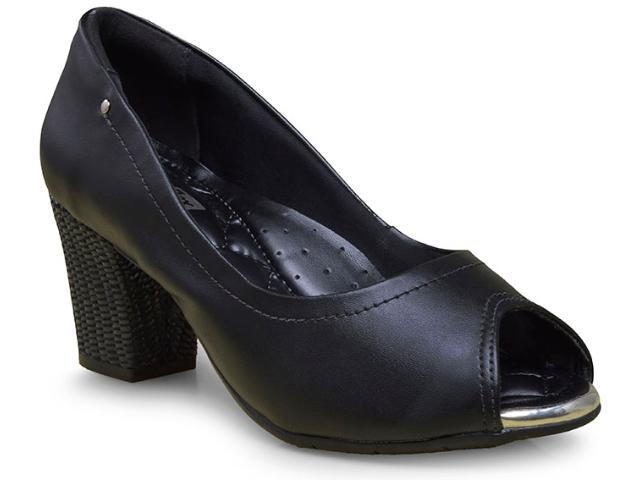 Peep Toe Feminino Comfortflex 17-75305 Preto