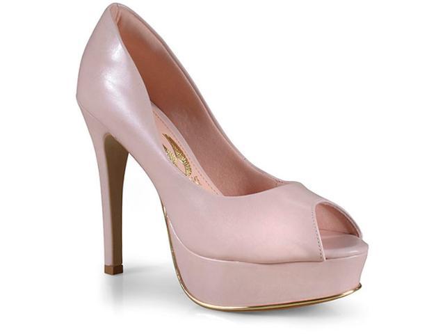 Peep Toe Feminino Invoice 801.8502f Rosa Quartz