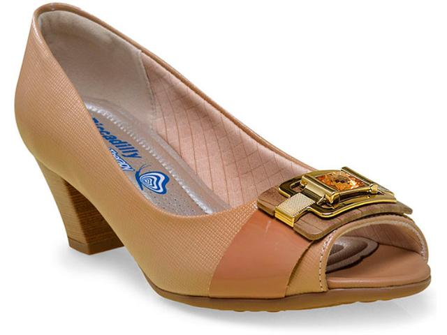 Peep Toe Feminino Piccadilly 714072 Tan