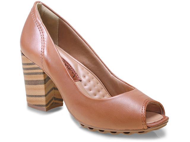 Peep Toe Feminino Ramarim 15-93101 Caramelo