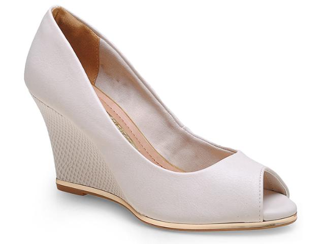 Peep Toe Feminino Via Marte 14-13401 Off White