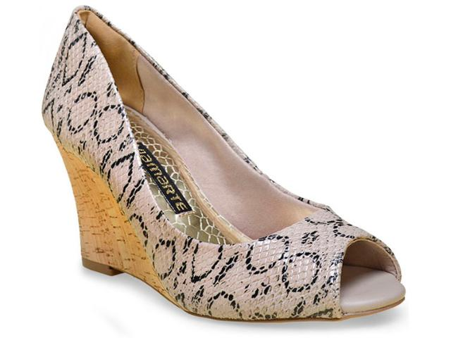 Peep Toe Feminino Via Marte 15-9501 Nude/natural