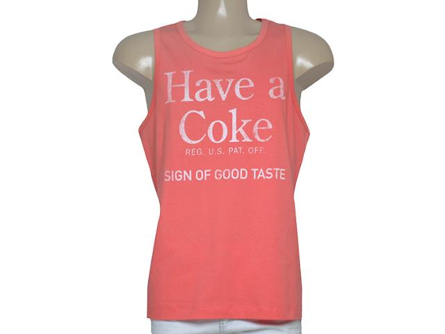Regata Masculina Coca-cola Clothing 393200438 Coral
