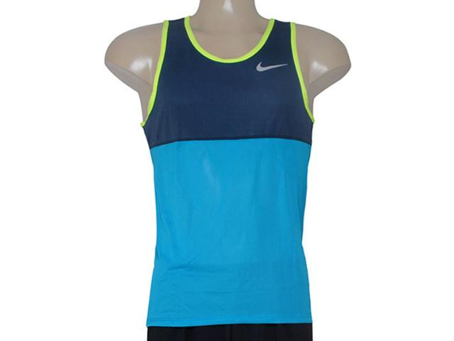 Regata Masculina Nike 642844-407 Racer Singlet  Marinho/azul