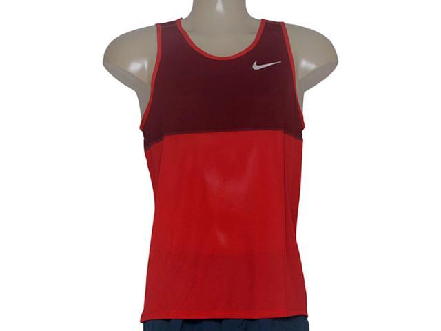 Regata Masculina Nike 642844-657 Racer Singlet  Vermelho/bordo