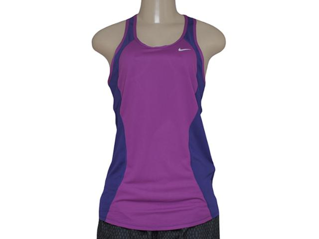 Regata Feminina Nike 645436-513 Racer Tank Violeta/roxo