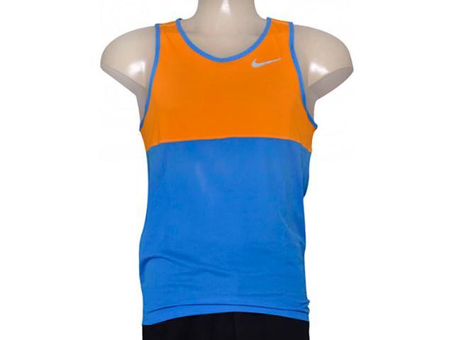 Regata Masculina Nike 642844-435 Racer Singlet  Laranja/azul
