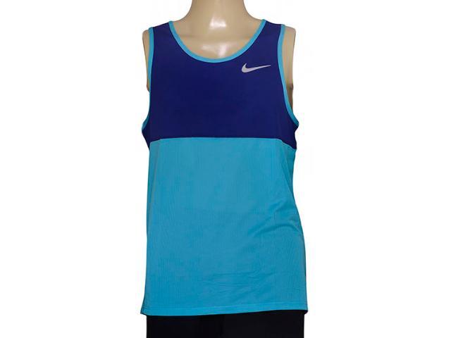 Regata Masculina Nike 642844-418 Racer Singlet Royal/celeste
