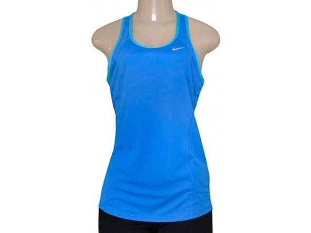 Regata Feminina Nike 645436-435 Racer Tank Azul/celeste