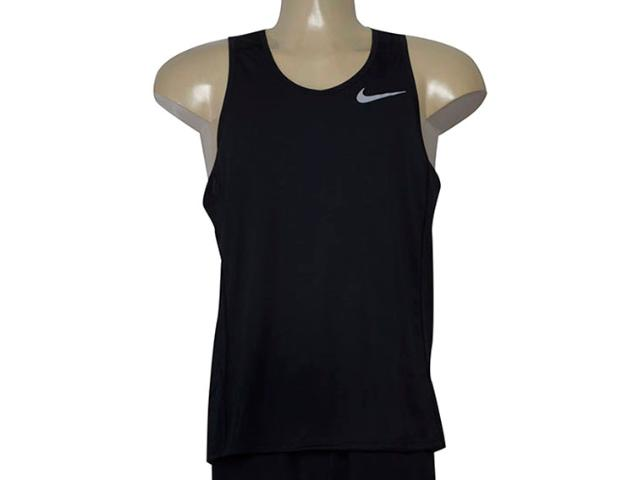 Regata Masculina Nike 833589-010 Dry Miler Running  Preto