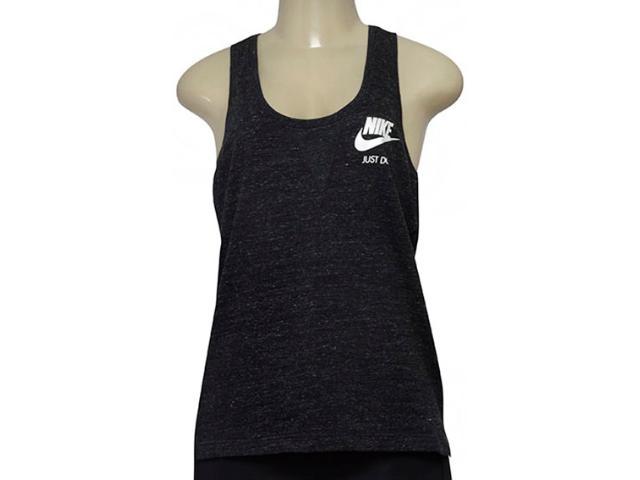 Regata Feminina Nike 883735-010 Nsw Gym Vntg Preto