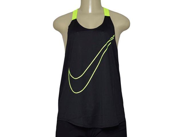 Regata Feminina Nike 822832-010 Training Tank Preto/limão