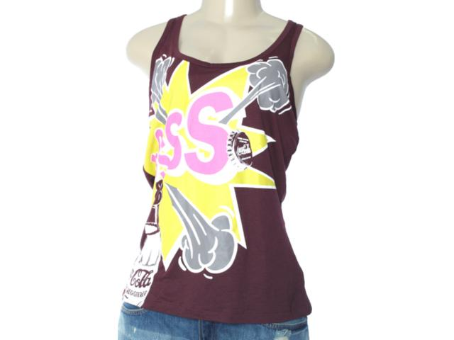 Regata Feminina Coca-cola Clothing 383200531 Bordo Estampado