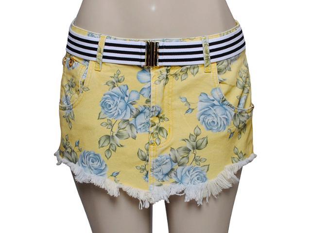 Saia Feminina Coca-cola Clothing 83200572 Amarelo Floral