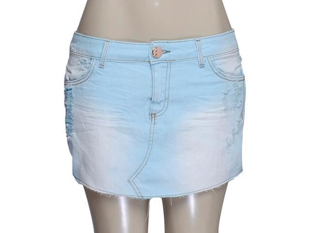 Saia Feminina Index 04.01.000070 Jeans Azul