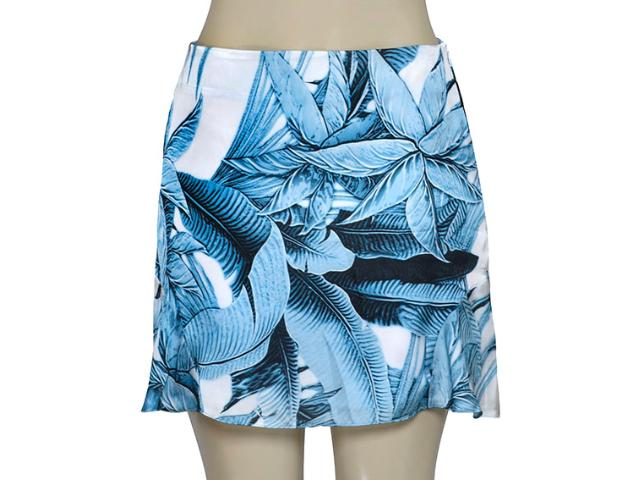 Saia Feminina Lado Avesso 93529 Estampado Azul/branco
