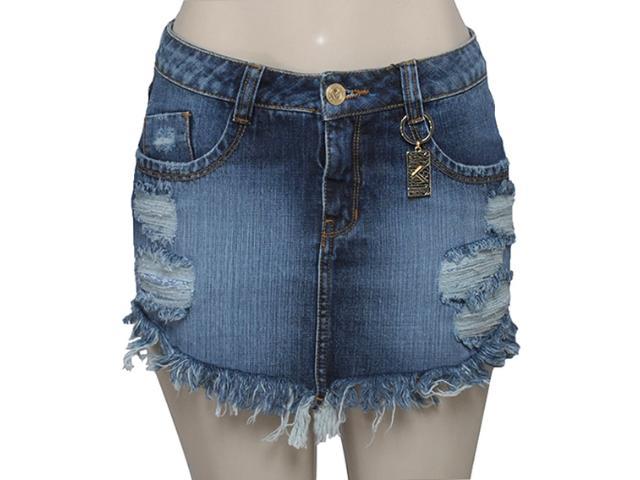 Saia Feminina Moikana 15870 Cor Jeans