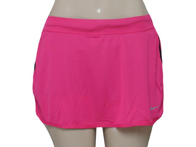 Saia/short Feminino Nike 645586-616 Racer Knit Skirt  Pink /preto