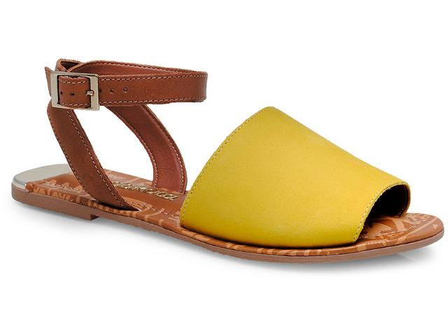 Sandália Feminina Dakota 9447 Castanho/amarelo