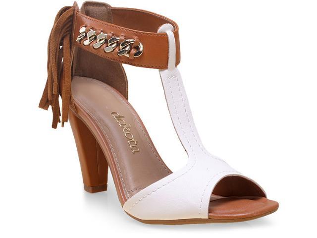 Sandália Feminina Dakota Z0163 Branco/caramelo