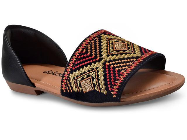 Sandália Feminina Dakota Z2651 Preto Multi Color