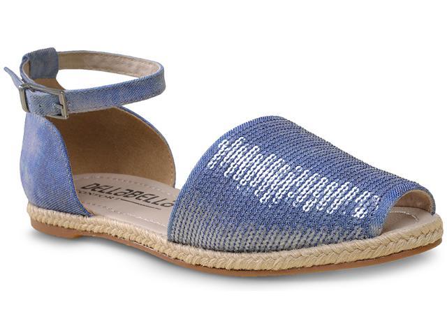 Sandália Feminina Della Bella 21022 Jeans Azul