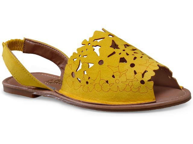 Sandália Feminina Escarlata 3100 Amarelo